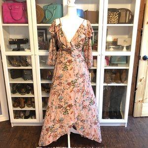 Gianni Bini Floral Escapade Wrap Dress